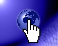 Free World Globe With Cursor Stock Photography - 9531562