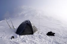 Free Wintry Camping On Mountains Royalty Free Stock Photo - 9531565
