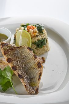Free Grilled Fish Royalty Free Stock Photos - 9531628