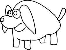 Free Cartoon Funny Dog Stock Photo - 9533370