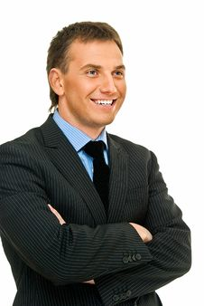 Free Smile From Businessman Royalty Free Stock Photography - 9533807