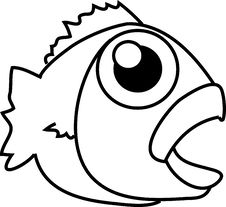 Free Cartoon Fish Royalty Free Stock Images - 9534059