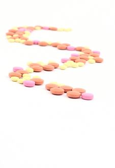 Twisting Path From Pills Stock Photography