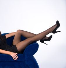 Free Attractive Lady In Black Dress Stock Image - 9535101
