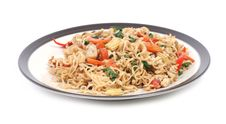 Free Noodle Macro With Vegetables Stock Images - 9535104