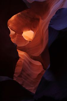 Antelope Canyon Hole In Canyon Royalty Free Stock Images