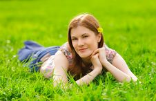 Pretty Girl Outdoors Royalty Free Stock Photography
