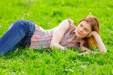 Free Beautiful Girl Outdoors Royalty Free Stock Photos - 9536838