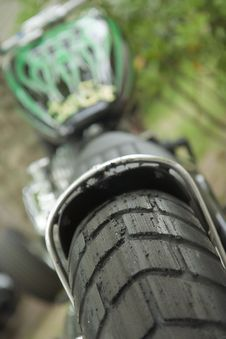 Free Motorcycle Burned Tire Stock Photography - 9536942