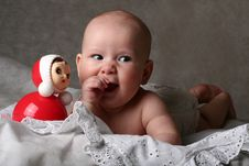 Free Baby With Toy Royalty Free Stock Photos - 9537768
