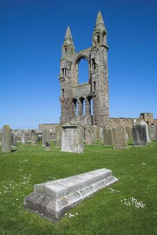 St Andrews Cathedral Ruins Stock Photos
