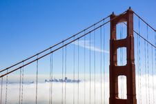 Free Bridge To A City In The Clouds Stock Photos - 9538243