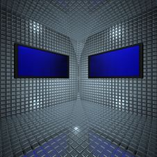 Free Monitors In Grid Room Stock Image - 9538571