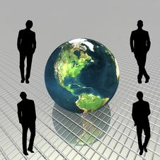 3D Globe Royalty Free Stock Photo