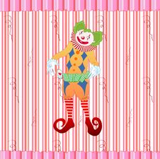 Free Clown Juggling Colorful Playing Card Royalty Free Stock Images - 9538909