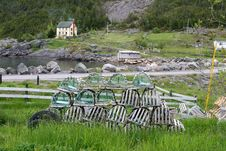 Free Lobster Traps Waiting For A New Season Royalty Free Stock Photography - 9539437