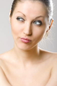 Free Closeup Of A Woman S Face - Looking Right Stock Photo - 9539440