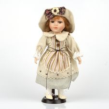 Ceramic Old Dolly Royalty Free Stock Image