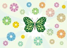 Free Flower And Butterfly Stock Image - 9539831