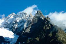 Free Mountain Peaks Against Blue Skies Royalty Free Stock Image - 95317796