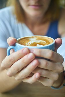 Free Hands Around A Cup Of Coffee Royalty Free Stock Photo - 95317865