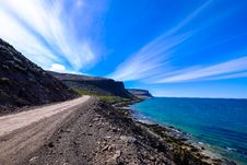Free Rough Coast Road With Dramatic Sky And Cloud Stock Image - 95317941
