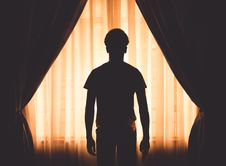 Free Silhouette Of Boy At Window Royalty Free Stock Image - 95317946