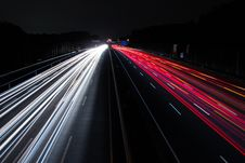 Free Light Trails On Highway At Night Royalty Free Stock Images - 95354899
