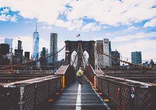 Free Brooklyn Bridge And New York Skyline Stock Image - 95355061