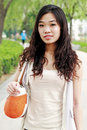 Free Asian Girl Outdoors. Royalty Free Stock Images - 9544559
