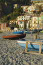 Free Boat On Scilla, Great Landscape On Sunset Royalty Free Stock Image - 9546526