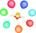Free Boy With Balloons Stock Images - 9548014