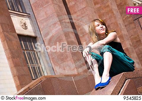 Free Pretty Girl Watching Away Royalty Free Stock Photo - 9545825