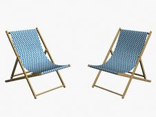 Free Two Chaise Longues Royalty Free Stock Photos - 9540138