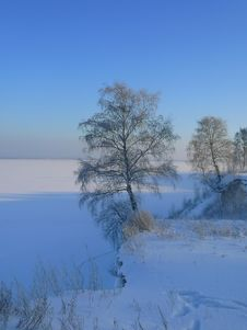 Free Winter Volga Rock Stock Photo - 9541790
