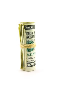 Free Roll Of Dollar Bills Royalty Free Stock Images - 9541889