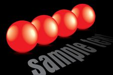 Free Shiny 3d Red Bubbles With Reflection Royalty Free Stock Photo - 9542175