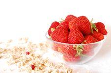 Strawberries And Muesli Stock Image