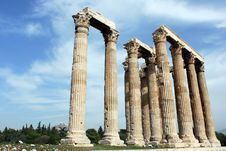 Free Ruins In Athens Royalty Free Stock Images - 9542579