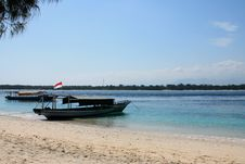 Free Boat On The Beach Of The Tropical Island Stock Image - 9543131