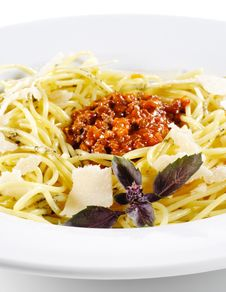 Free Spaghetti With Bolognese Sauce Stock Image - 9543421