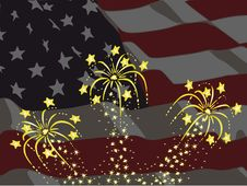Free American Fireworks Royalty Free Stock Image - 9543546