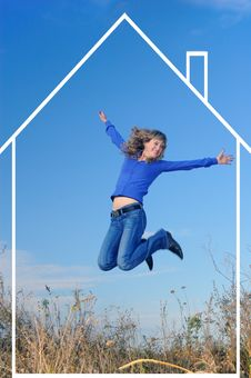 Free The Jumping Girl Royalty Free Stock Image - 9543686