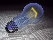 Free 3d Concept Bulb Royalty Free Stock Images - 9544189