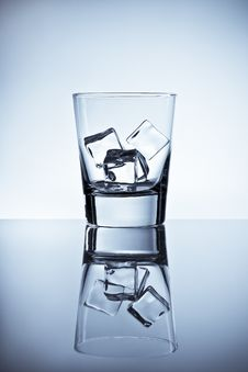 Glass Of Ice Cubes Stock Photo