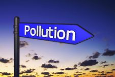 3d Pollution Signs Stock Photos
