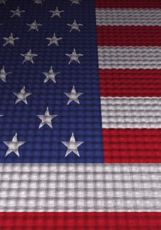 3d Concept Flag Stock Image