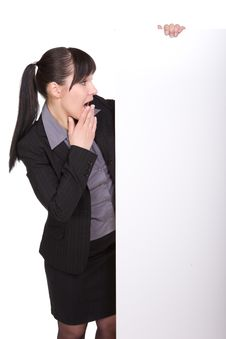 Free Businesswoman With Board Stock Photography - 9545012