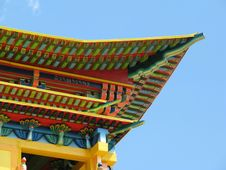 Temple In Buddhist University Monastery Royalty Free Stock Images