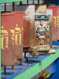 Free Prayer Wheels Stock Photo - 9545170
